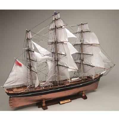 【日本製】木製 1/80 カティサーク (帆付き)【ウッディジョーの木製模型】【製作参考時間 380時間】WoodyJOE【代引不可】