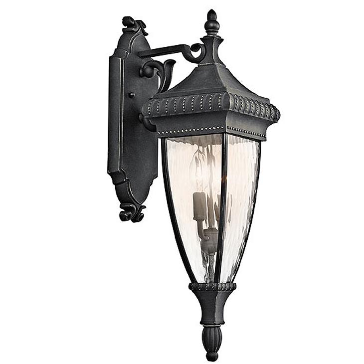 KICHLER(キチラー)Venetian Rainコレクション2灯式の防雨形ブラケットライトKIC-49131BKG【代引不可】