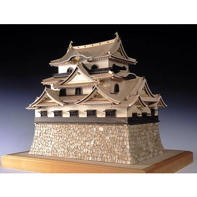 【日本製】木製1/80 彦根城 (国宝) 【ウッディジョーの木製模型】WoodyJOE【代引不可】