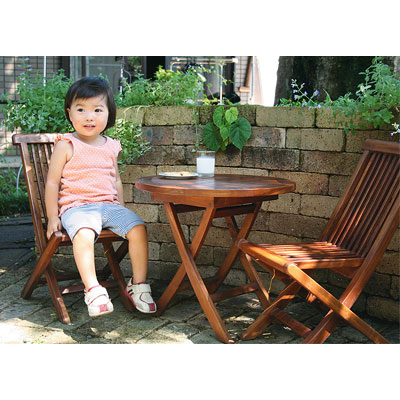 【ジャービス商事】ミニ折り畳みテーブル3点セット 20870 (メーカー直送のため)【代引不可】