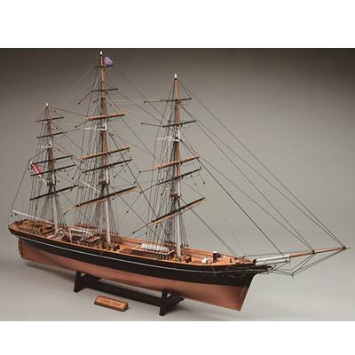 【日本製】木製1/100 帆船 カティサーク (帆なし)【ウッディジョーの木製模型】WoodyJOE【代引不可】