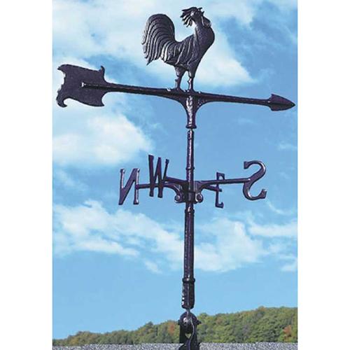【ジャービス商事】風見鶏 WV-E30型 黒オーナメント オンドリ 08002【代引不可】