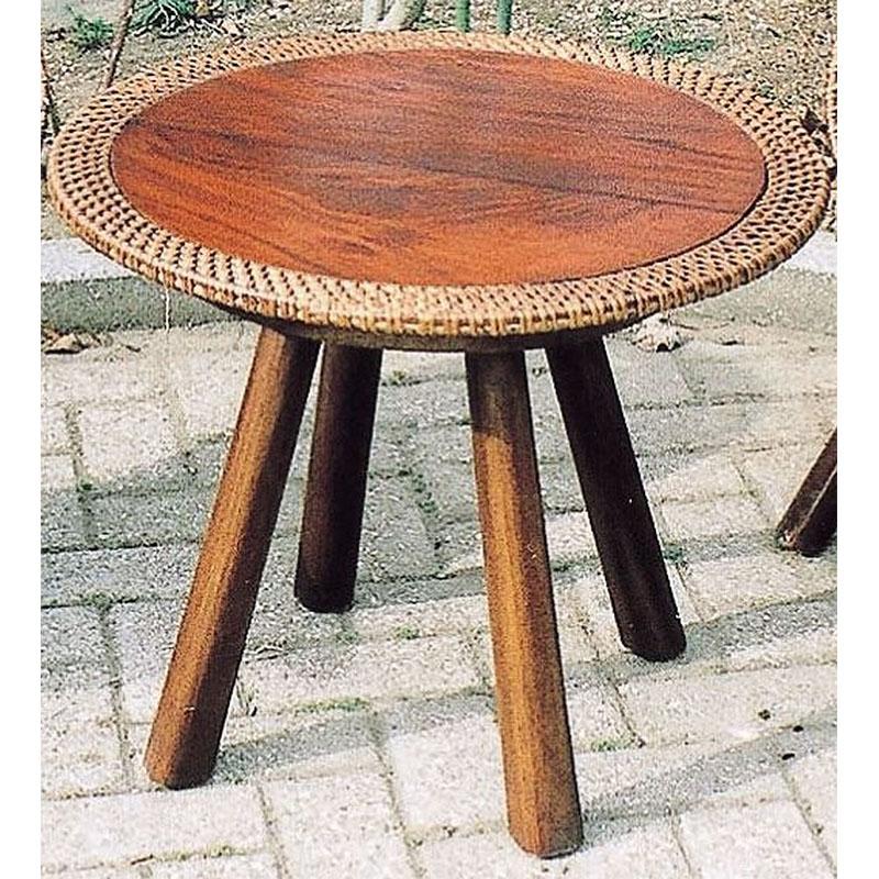 【ジャービス商事】ラタンウッドテーブル 70047 直径54cm【室内用テーブル】【代引不可】