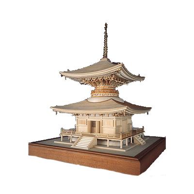 【日本製】建築1/50 石山寺 多宝塔【ウッディジョーの木製模型】WoodyJOE【代引不可】