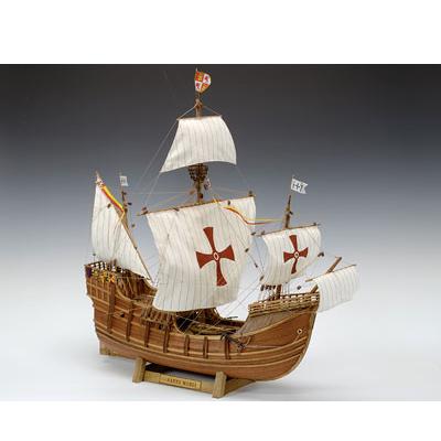 【日本製】帆船1/50 サンタマリア【ウッディジョーの木製模型】WoodyJOE【代引不可】