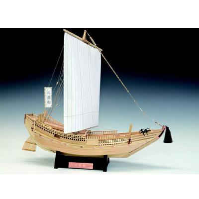【日本製】帆船1/72 北前船【ウッディジョーの木製模型】WoodyJOE【】