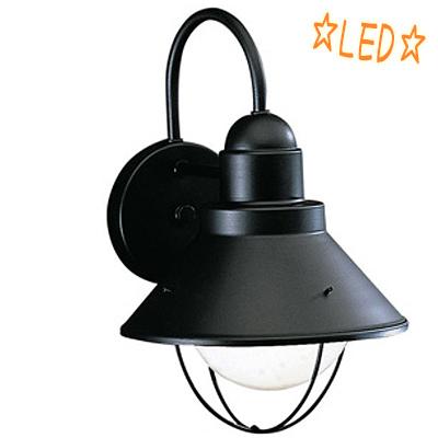 KICHLER(キチラー)防雨型 屋外ブラケット KIC-9022BKLD【E26 LED電球G95ホワイト】【代引不可】