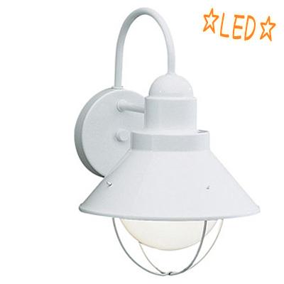 KICHLER(キチラー)防雨型 屋外ブラケット KIC-9022WHLD【E26 LED電球G95ホワイト】【代引不可】