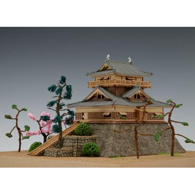 【日本製】木製1/150 丸岡城 (霞ヶ城)【ウッディジョーの木製模型】WoodyJOE【代引不可】