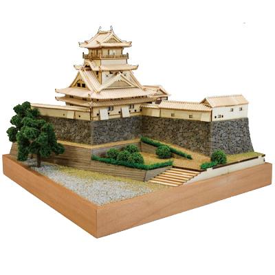 【日本製】木製1/150 高知城【ウッディジョーの木製模型】WoodyJOE【代引不可】