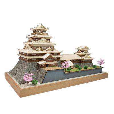 【日本製】木製1/150 広島城【名城シリーズ】【ウッディジョーの木製模型】WoodyJOE【代引不可】