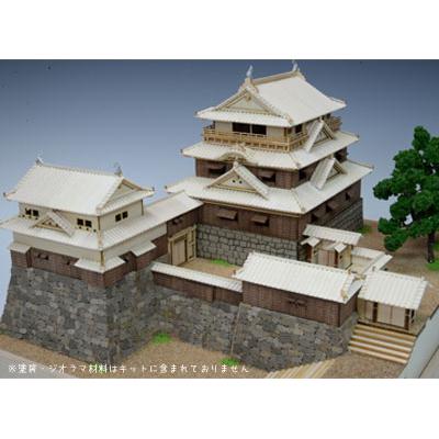【日本製】木製1/150 松山城【名城シリーズ】【ウッディジョーの木製模型】WoodyJOE【代引不可】