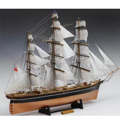【日本製】木製1/100 帆船 カティサーク (帆付き)【ウッディジョーの木製模型】WoodyJOE【代引不可】