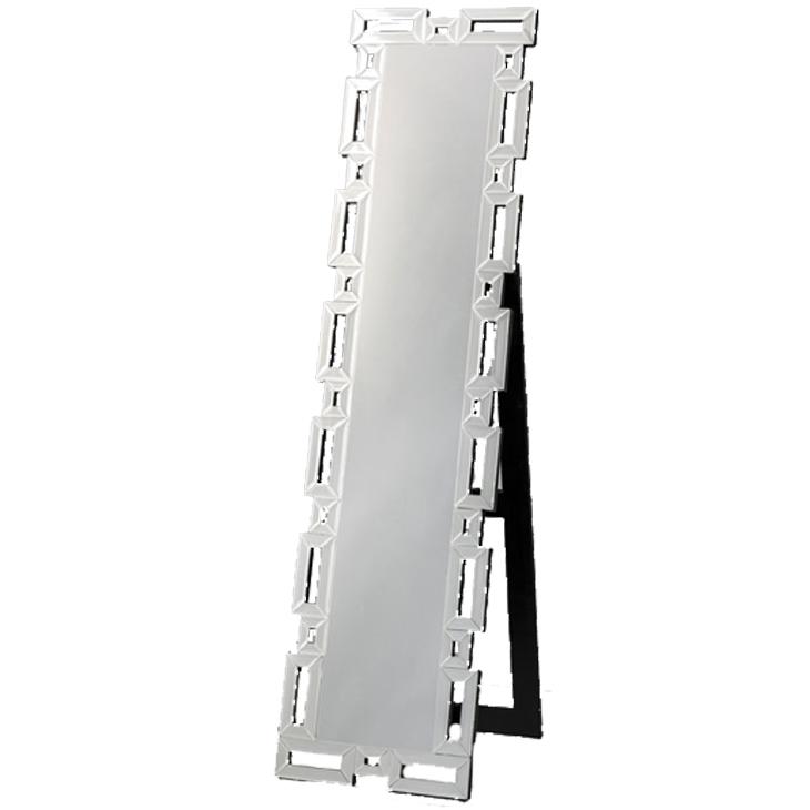 クロシオ スタンディングミラー 角 (DS-001) ミラー部分:W22.5×H135cm 81001【代引不可】
