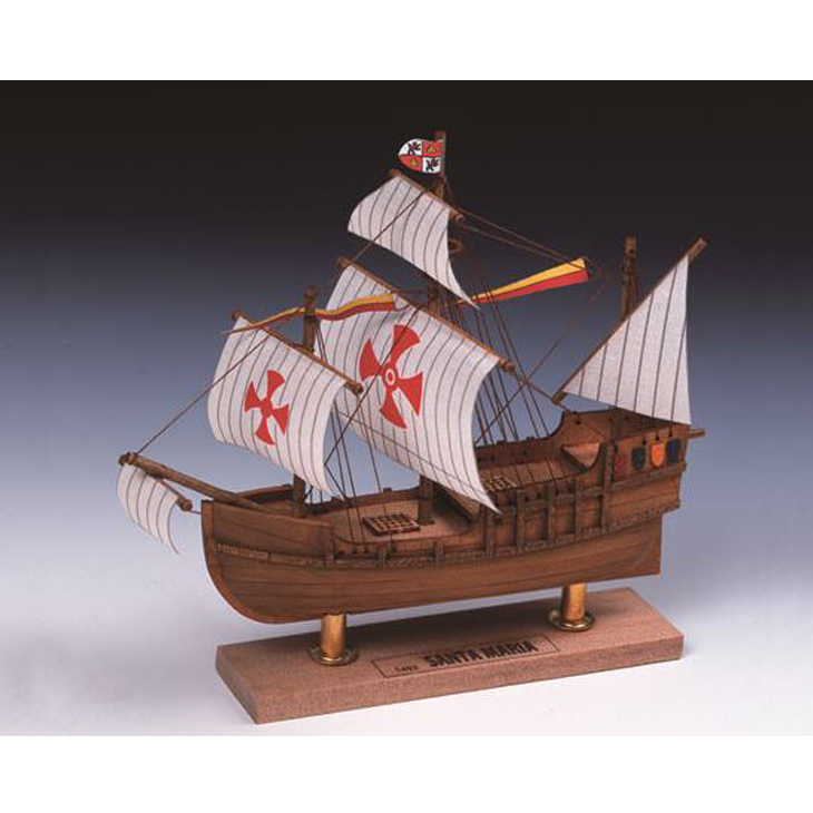 【日本製】ミニ帆船 サンタマリア No.2【ウッディジョーの木製模型】WoodyJOE【代引不可】