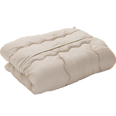 ふわふわの肌掛けふとん カラー:カフェオーレベージュ 洗える寝具 洗濯可能