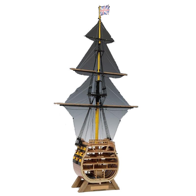 【日本製】1/160 ビクトリー カットモデル(帆無)【ウッディジョーの木製模型】WoodyJOE【代引不可】
