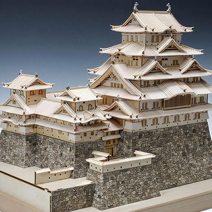 【日本製】<br />建築1/150 姫路城<br />【名城シリーズ】<br />【ウッディジョーの木製模型】WoodyJOE<br />【代引不可】