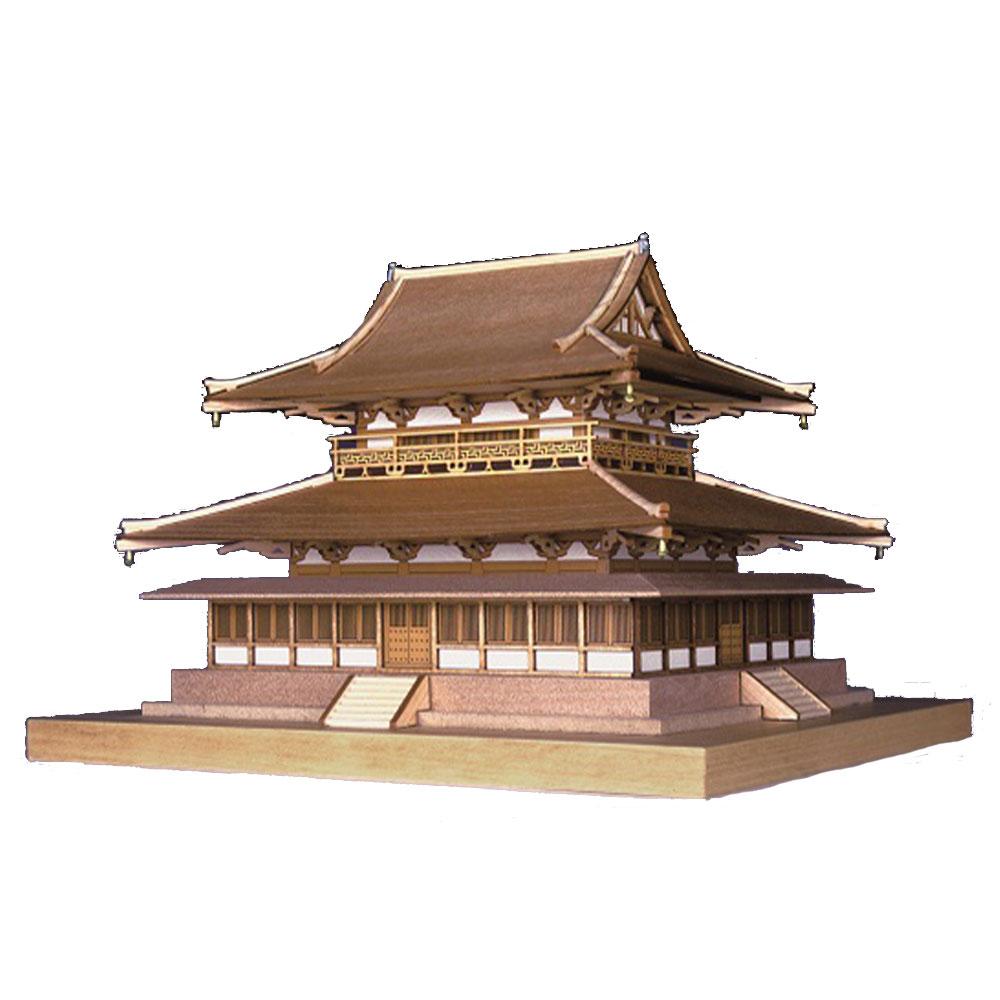 製作参考時間:約10時間 値下げ お求めやすく価格改定 日本製 木製1 150 法隆寺 代引不可 金堂 ウッディジョーの木製模型 WoodyJOE