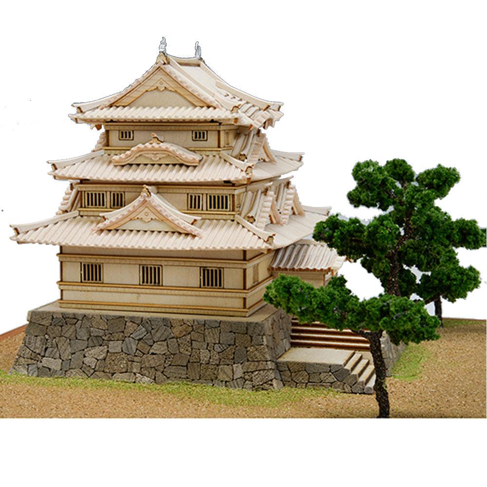 【日本製】建築1/150 宇和島城【名城シリーズ】【ウッディジョーの木製模型】WoodyJOE【代引不可】