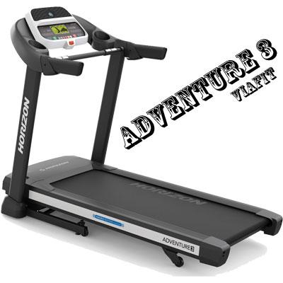 ジョンソンヘルステック(Johnson Health Tech) HORIZON トレッドミル Adventure3 【ハンドグリップセンサー式】【代引不可】アドベンチャー3