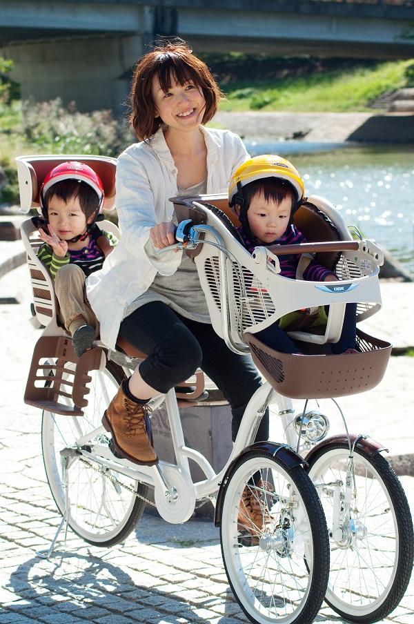 【BAA取得】ミムゴ バンビーナチャイルドシート付3人乗り三輪自転車MG-CH243W【代引不可】