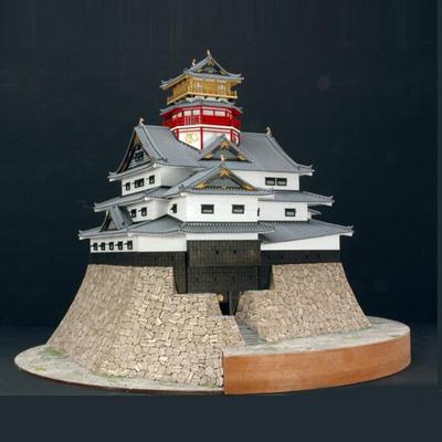 【日本製】建築1/150 安土城 天守閣【織田信長】【ウッディジョーの木製模型】WoodyJOE【代引不可】