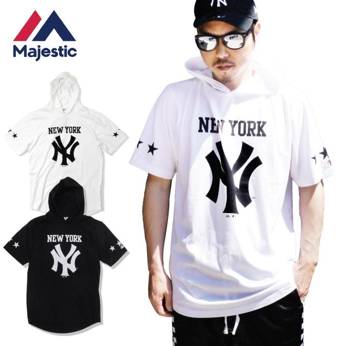 huge discount 82550 48fc3 MAJESTIC majestic T-shirt short sleeves US NEWYORK New York NY Yankees MLB  long length YANKEES TEE men L LL 2L