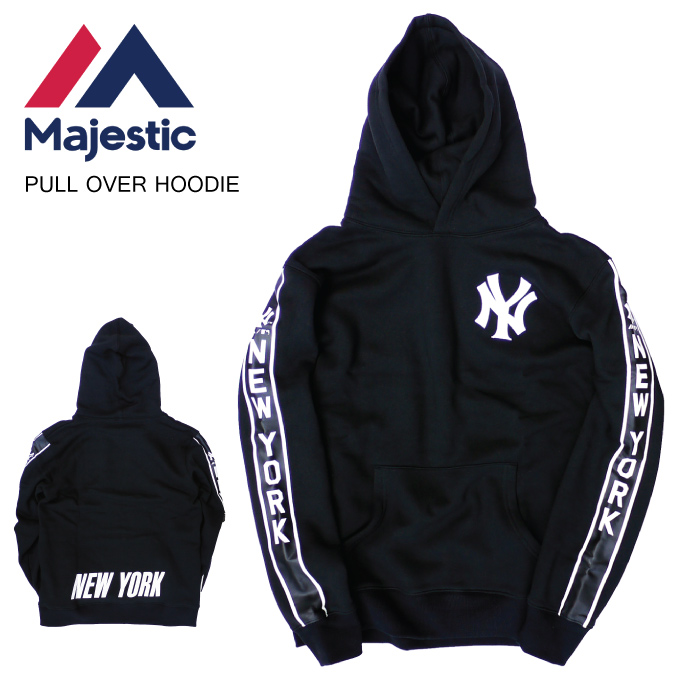 new product c3baa 2ff41 MAJESTIC マジェスティックプルオーバーパーカーフーディーニューヨーク NY YANKEES HOODIE PARKA SWEAT sweat  shirt Yankees MLB men L LL 2L