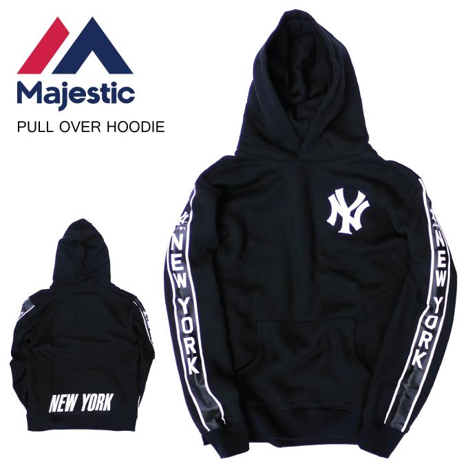 new product 6628d 04d07 MAJESTIC マジェスティックプルオーバーパーカーフーディーニューヨーク NY YANKEES HOODIE PARKA SWEAT sweat  shirt Yankees MLB men L LL 2L