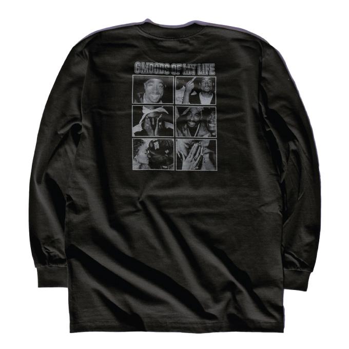 Print long T-shirt long sleeves T-shirt TUPAC 2 pack West Coast hip-hop  California West Coast big size American HIPHOP WESTSIDE WESTCOAST TEE men's