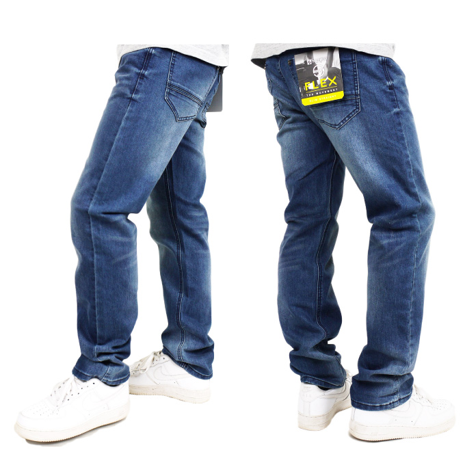 SOUTHPOLE南桿細長的直率的牛仔褲長褲子褪色加工三明治洗滌SLIM STRAIGHT STRETCH HIP HOP牛仔褲牛仔褲US尺寸男子的大的尺寸L LL 2L 3L 4L 5L