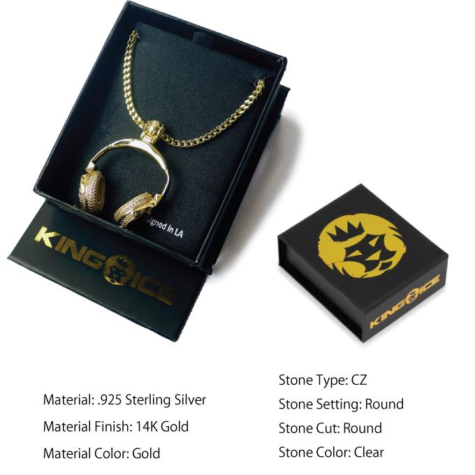 b3b1381e2 CRIMINAL: Ai King's KING ICE necklace surface 14K gold coating GOLD ...