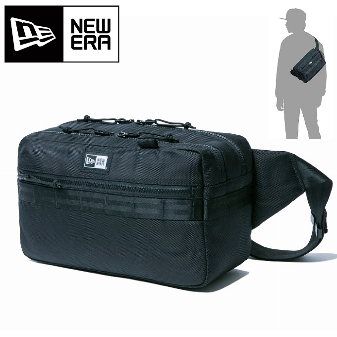 New Era Gills Waist Porch Shoulder Bag Men Light Weight Carrying Around Convenience Fashion Sports Body Black Plain Fabric Usual Times