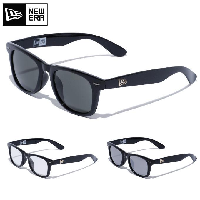 44c423014f NEW ERA new gills sunglasses square lens shiny black frame clear silver  mirror smoke gray lens ...