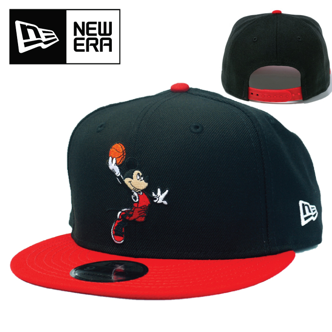 NEW ERA ニューエラ キャップ 【 ディズニー バスケットボール ブラック 】 9FIFTY スナップバックキャップ 950 ストレートキャップ 帽子 NEWERA 12048705