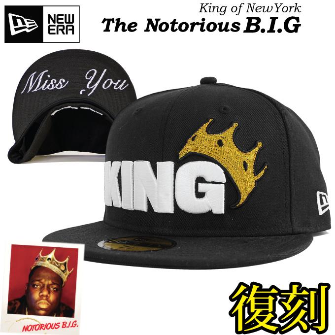 【名品復刻】NEW ERA ニューエラ キャップ 【KING】 【ノトーリアス B.I.G】ビギーモデル 59FIFTY CAP 王冠 NOTORIOUS B.I.G. クラウン KING OF NEWYORK BIGGIE ノートリアス BADBOY ニューヨーク 大きいサイズ メンズ 帽子