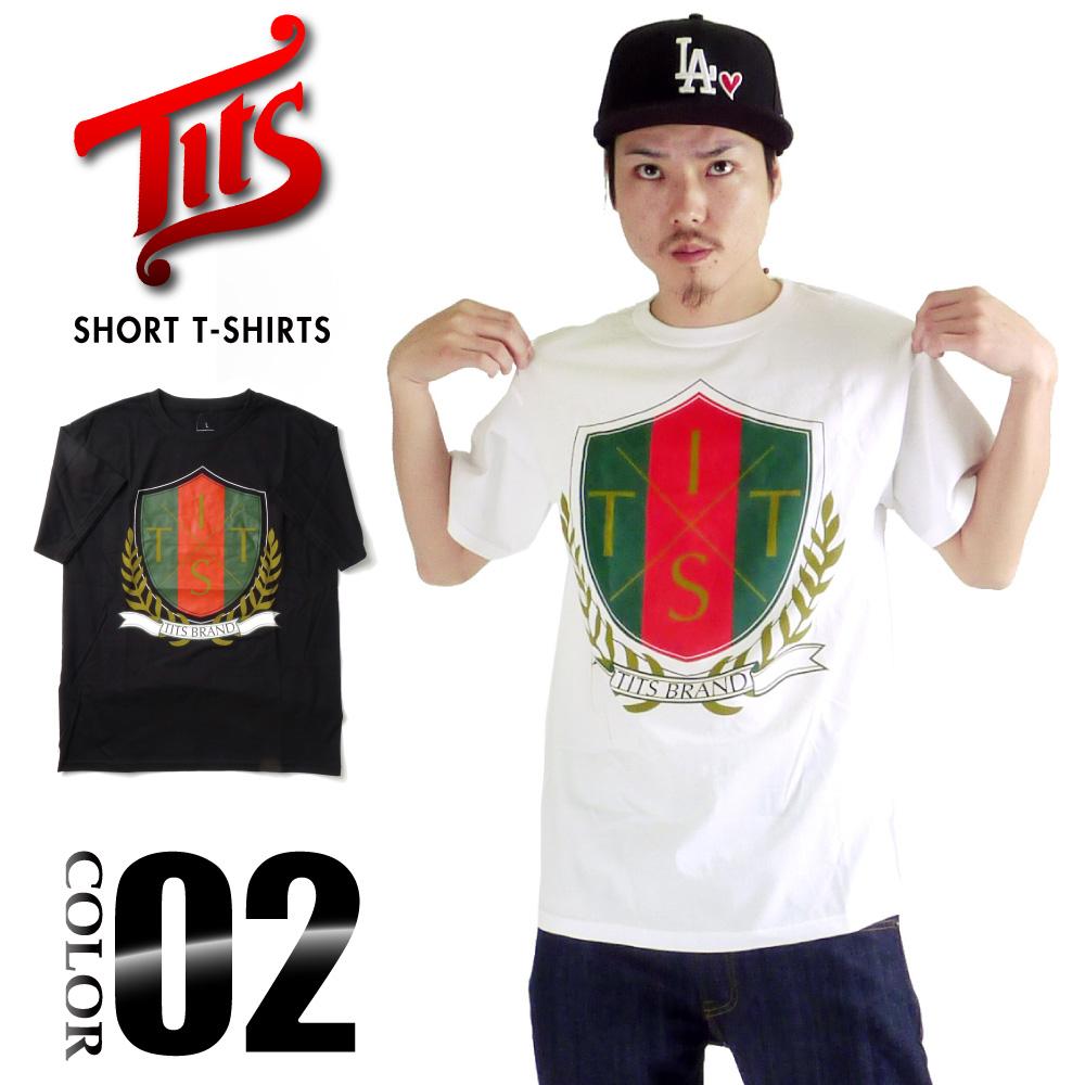 TITS 반 소매 T 셔츠 ティッツ SHORT T-SHIRTS 로고의 단순 US 사이즈 남성 큰 사이즈 L LL 2L 3L 5L 4L