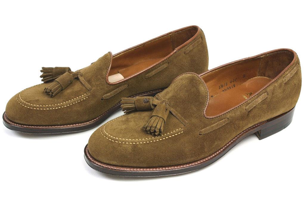 3d9f586631c CRISPIN  Alden tassel loafer snuff Suede (34031F ALDEN)