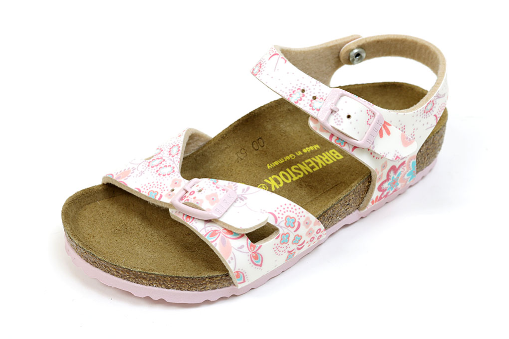 f3fa0a043e552 Birkenstock Sandals kids Rio Curt flower rose (BIRKENSTOCK Rio Kids Cuto  Flowers Rose)