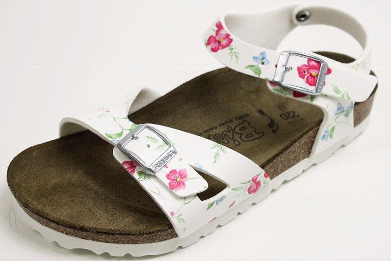 【KIDS】ビルケンシュトック ビルキー キッズサンダル ツバル スメルオブフラワーホワイト (BIRKENSTOCK Birki's Tuvalu Smell of Flowers White)
