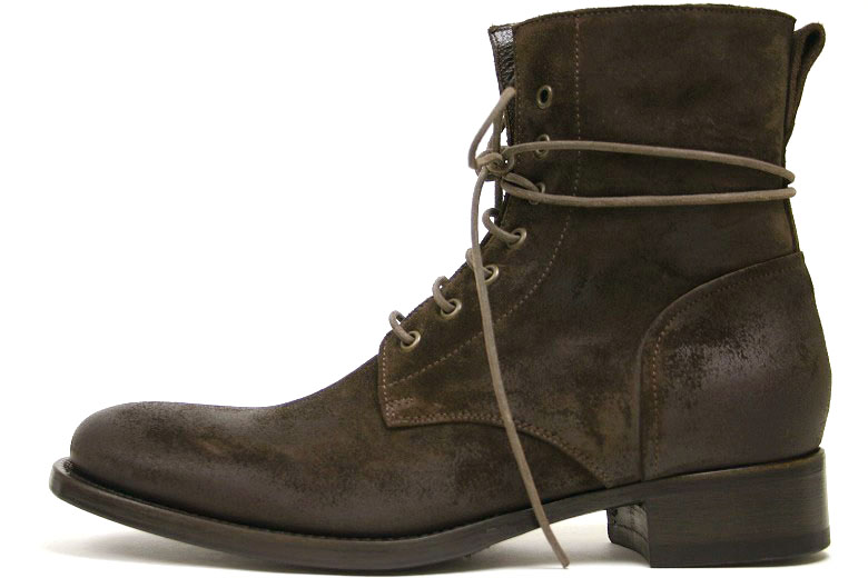 Buttero lace-up boots dark brown suede ( BUTTERO B2904 PE-SCAA T.MORO )
