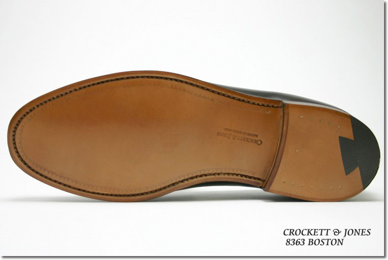 Crockett&Jones低毛皮波士顿酒吧甘地(CROCKETT&JONES BOSTON BURGUNDY CAVALRY CALF)