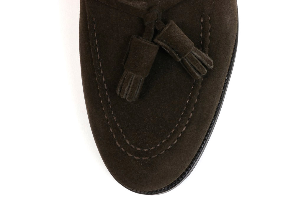 bb083d3836a Crockett   Jones tassel loafer Cavendish dark brown calf suede  (CROCKETT JONES CAVENDISH DARK BROWN CALF SUEDE)