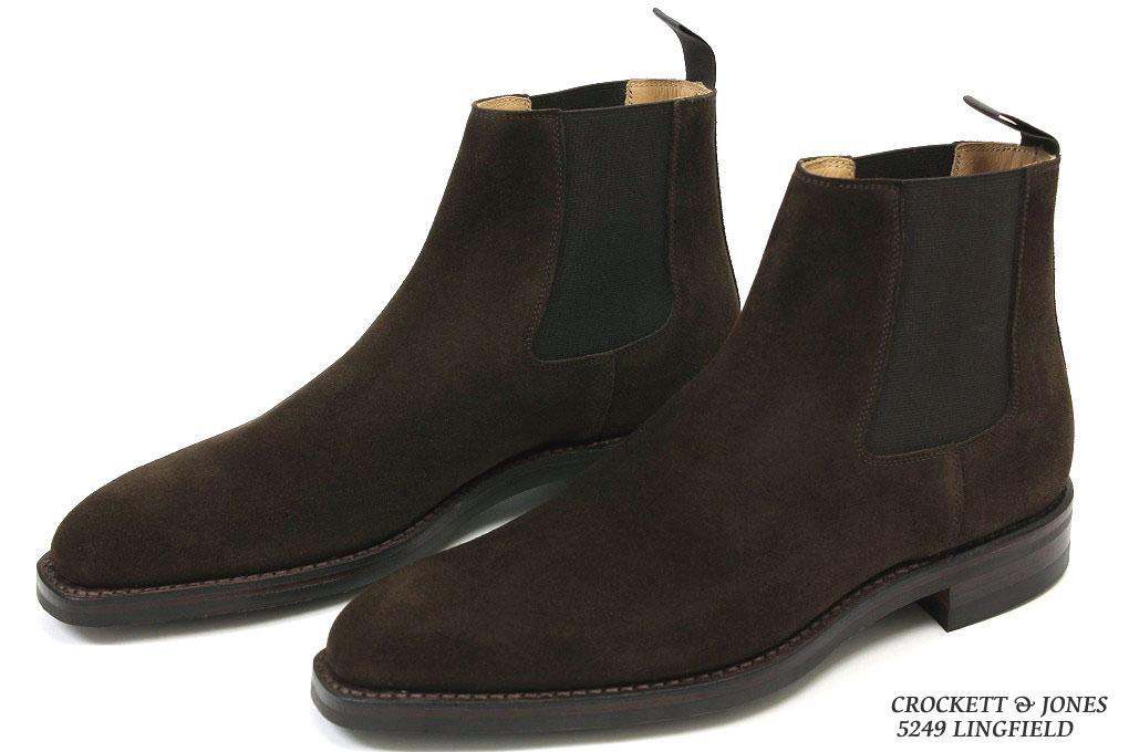 e8c021e2ffd Crockett & Jones side Gore boots ring field dark brown suede  (CROCKETT&JONES LINGFIELD DARK BROWN SUEDE)