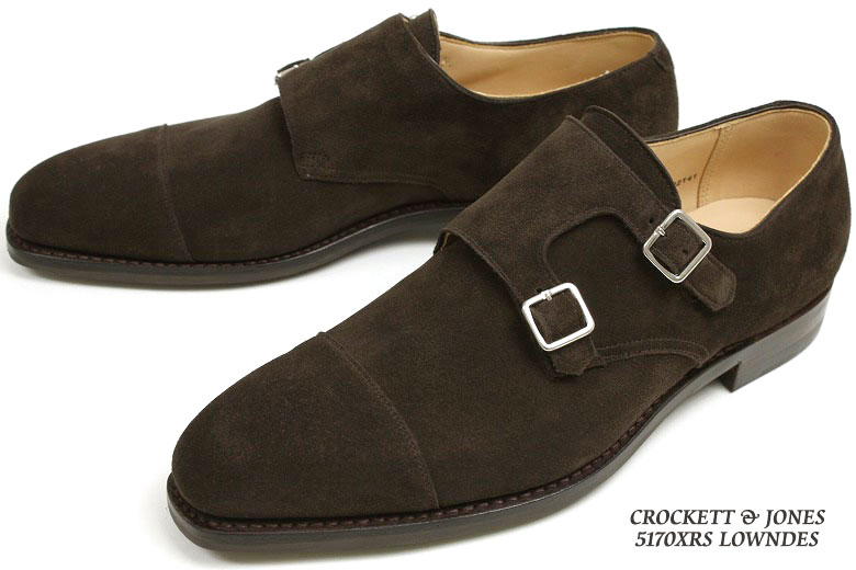 Crockett & Jones ダブルモンク Lowndes エスプレッソカーフ suede ( CROCKETT JONES LOWNDES ESPRESSO CALF SUEDE ) 10P28oct13
