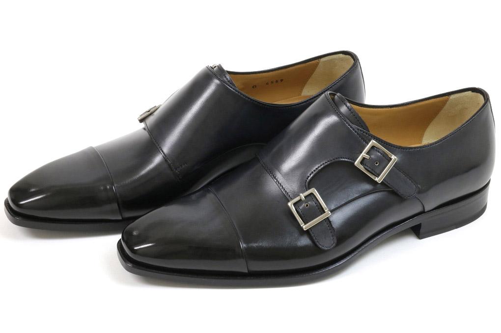 フランチェスコ ベニーニョ ダブルモンク ブラック (FRANCESCO BENIGNO G4559 BLACK-C)