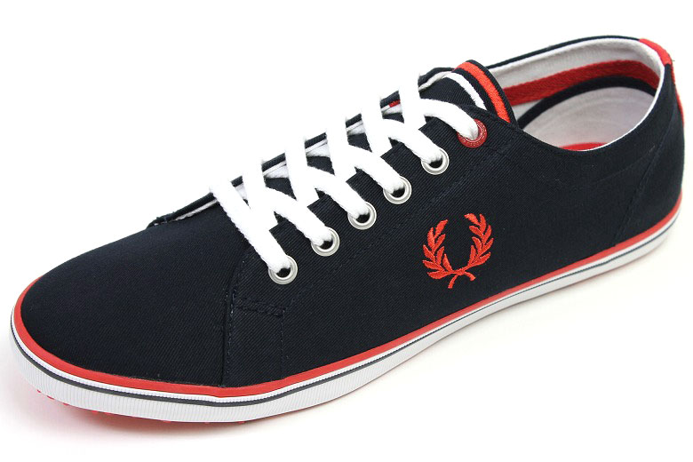 Fred Perry canvas sneakers Kingston Navy ( FRED PERRY KINGSTON TWILL NAVY ) e178cf9f906