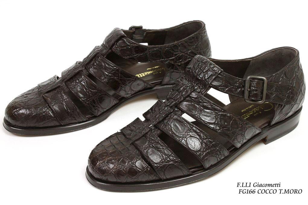 フラテッリ ジャコメッティ 超人気 専門店 クロコダイル 驚きの値段 グルカサンダル ダークブラウン FG166 F.lli COCCO T.MORO Giacometti