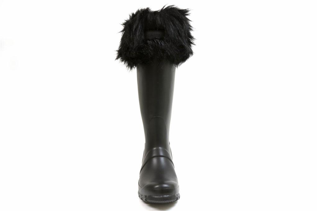 ハンター オリジナル フェイクファーカフス ブーツソックス ブラック(WOMEN'S ORIGINAL FAUX FUR CUFF BOOT SOCKS UAS3088ADU BLACK)